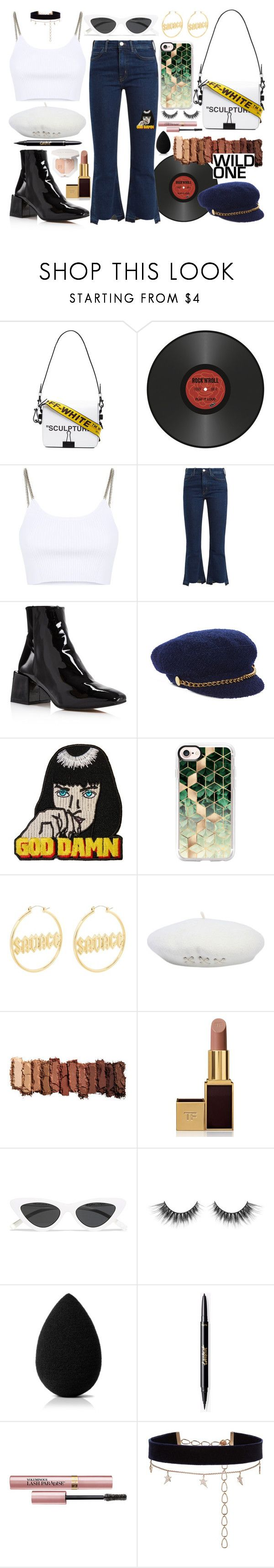 """""""ALL THE STARS"""" by sarapmary on Polyvore featuring Off-White, Pôdevache, Alexander Wang, M.i.h Jeans, LOQ, Scala, Wallace, Casetify, Urban Decay and Tom Ford"""