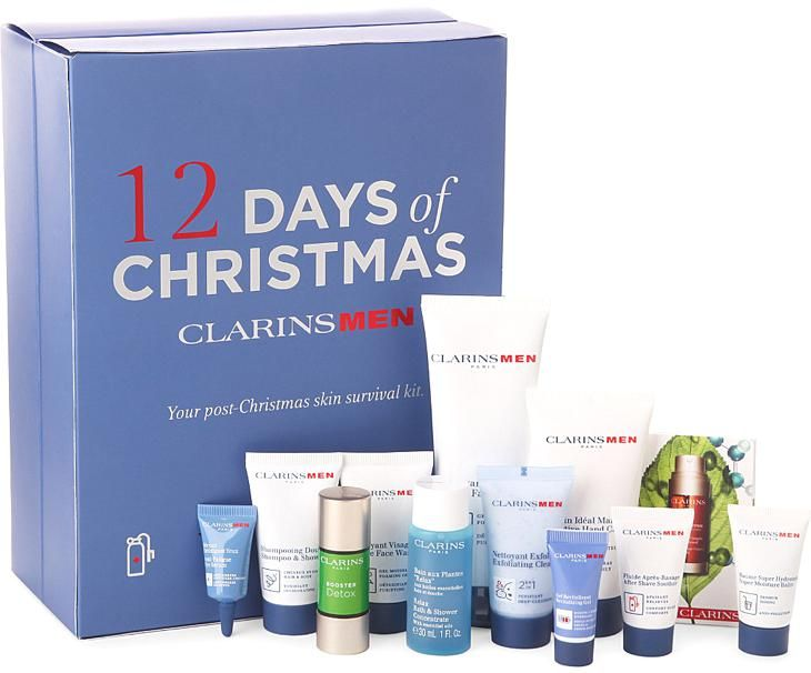The Clarins Men 12 Days of Christmas Advent Calendar is a great Holiday gift for men.
