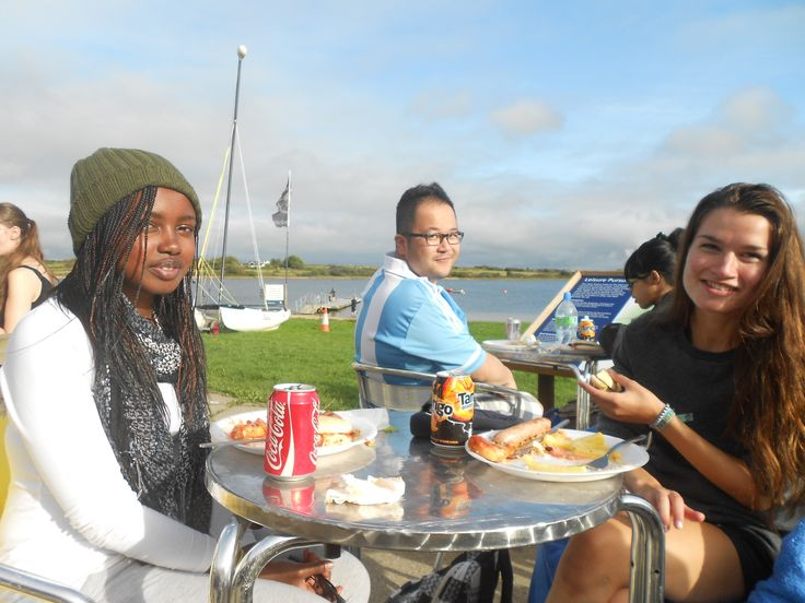 A BBQ lunch at Stithians lake after sailing and archery.