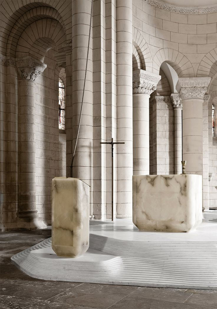 St. Hilaire church in Melle by Mathieu Lehanneur | MODEDAMOUR