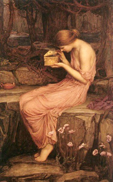 Psyche Opening the Golden BoxJohn William Waterhouse1903