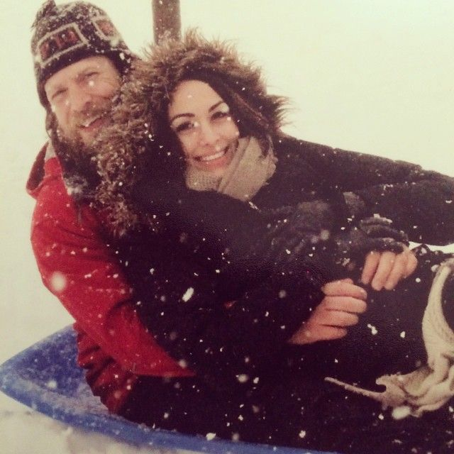 WWE Superstar Bryan Danielson (Daniel Bryan) and his wife WWE Diva Brianna Garcia-Danielson (Brie Bella). The couple is featured on the E! reality show Total Divas.