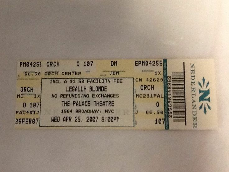 Leagally Blonde Tickets 16