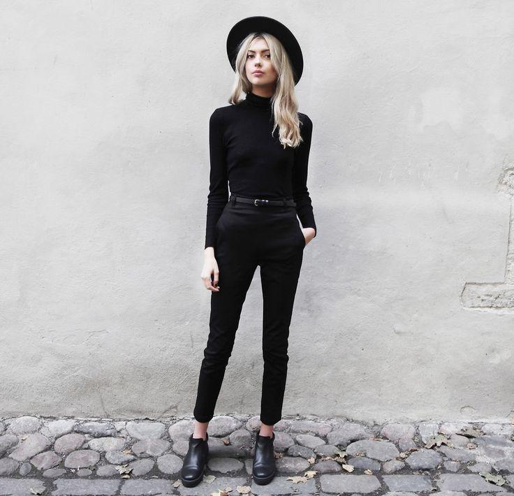 Ebba Zingmark - Reval Denim Guild Hat, Reval Denim Guild Pants, Henry Kole Boots - BLACK BIRD