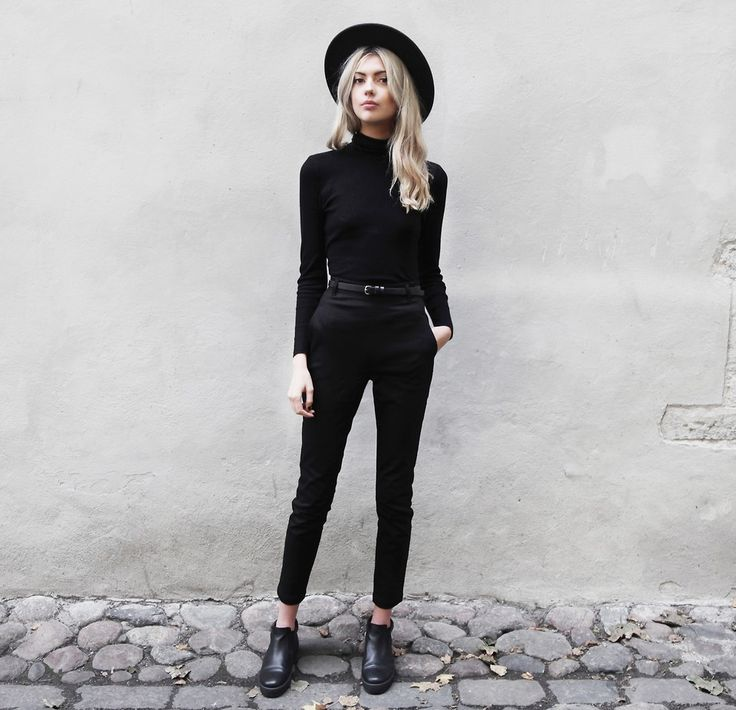 Black skinny denim jeans + black top and black hat  . What a cute summer look! Find black skinny jeans, denim button down shirts and more. | Shop denim at www.refinedtrends.com