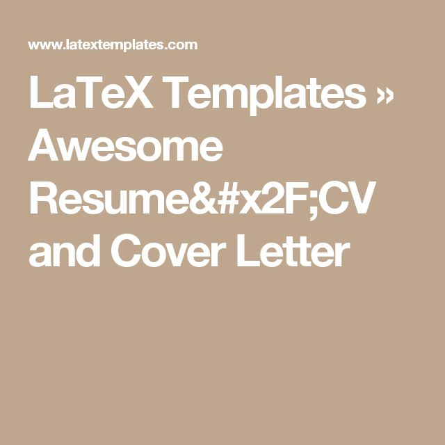 25+ unique Latex letter template ideas on Pinterest Latex resume - latex template resume