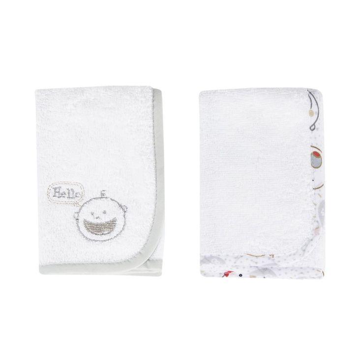 Cotton Facecloths 2-Pack