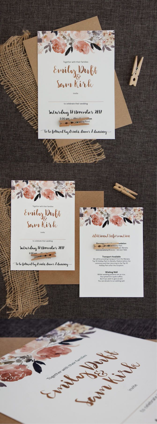 are labels on wedding invitations tacky%0A Beautiful Peonies Wedding Invitation
