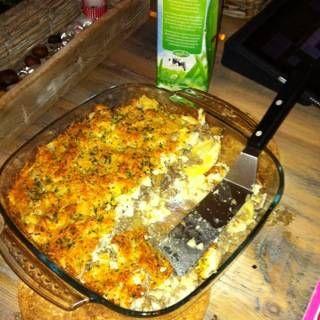 Een+lekkere+en+apparte+eenpans-ovenschotel+die+je+ook+heel+makkelijk+van+te+over+kan+klaar+maken.