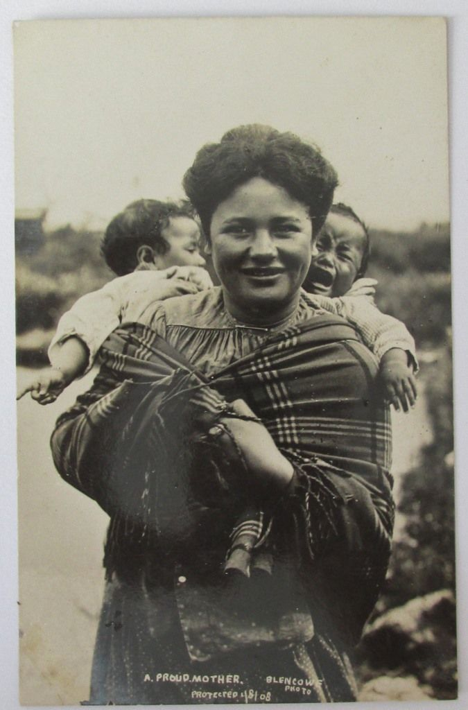 FGR series real photo postcard , Proud mother , Blencowe , Protected 1908 , unused