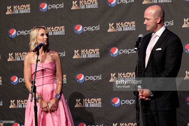 Elisabeth Hasselbeck and Tim Hasselbeck speak onstage in the press room during the 3rd Annual KLOVE Fan Awards at the Grand Ole Opry House on May 31, 2015 in Nashville, Tennessee.
