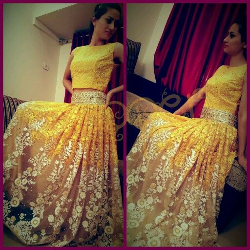 Indo western high waist skirt paired with crop top #mirrorworkbelt #copperstyle #desiwedding #sangeet #bollywoodstyle #photoftheday #loves #bollywoodstyle #fashioncopperstyle  Whtsapp :+917738177090