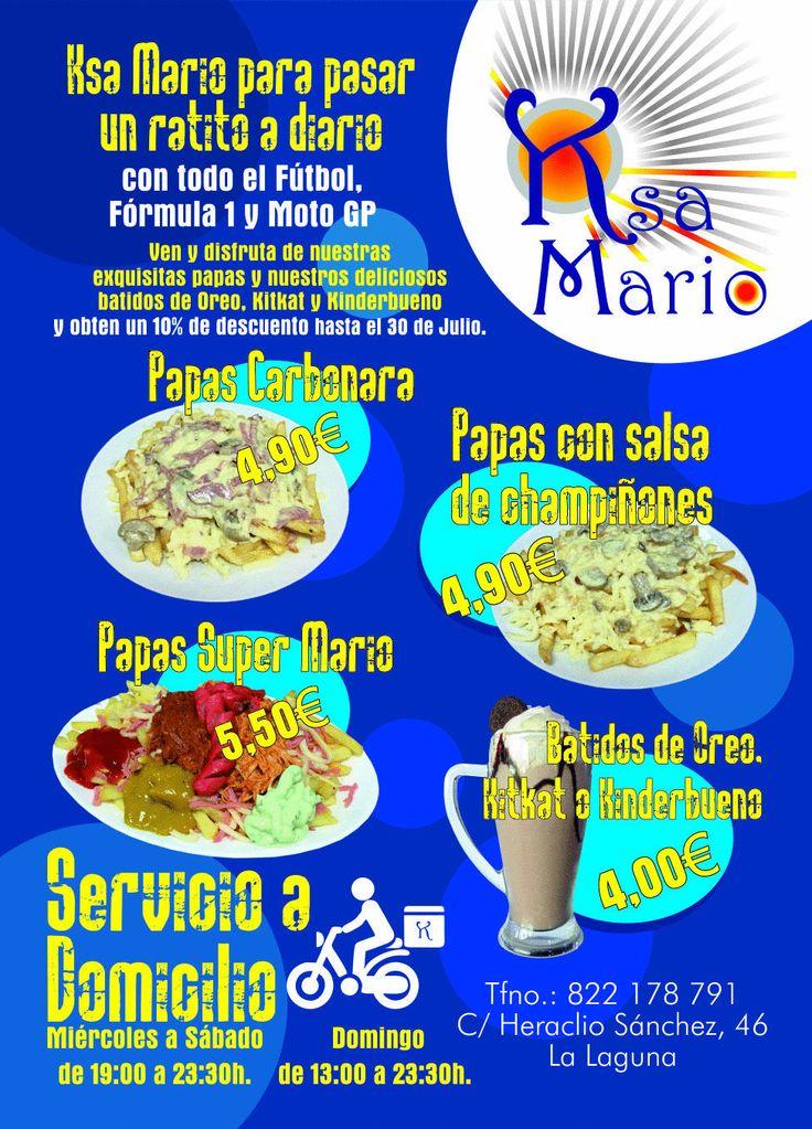 Diseño e impresión flyer DinA6 Ksa Mario - Ideas frescas