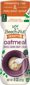 sensitive oatmeal cereal canister