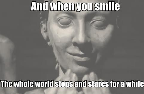 This is hilarious! Because you can't blink! Oh, I am DYING. :D  weeping angels, doctor who, stares