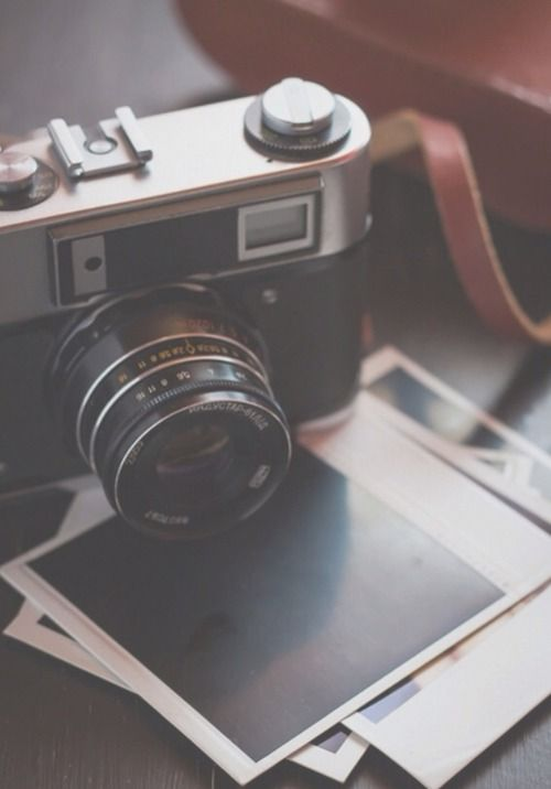 Camera and polaroid pictures