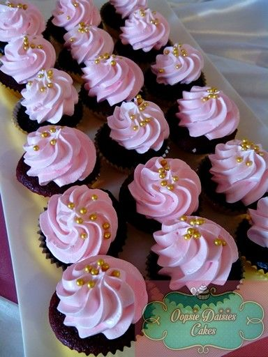 Pink And Gold Cupcakes Oopsie Daisies Cupcakes In 2019