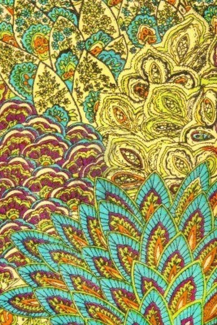 Patron indien sur tissu.  Banque d'images - 7926041