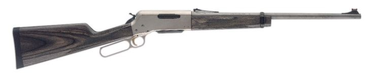 BLR (Browning Lever Rifle) Lightweight stainless takedown rifle - box magazine allows modern shells including .308 Win or various options from .223 to .300 Win Mag.