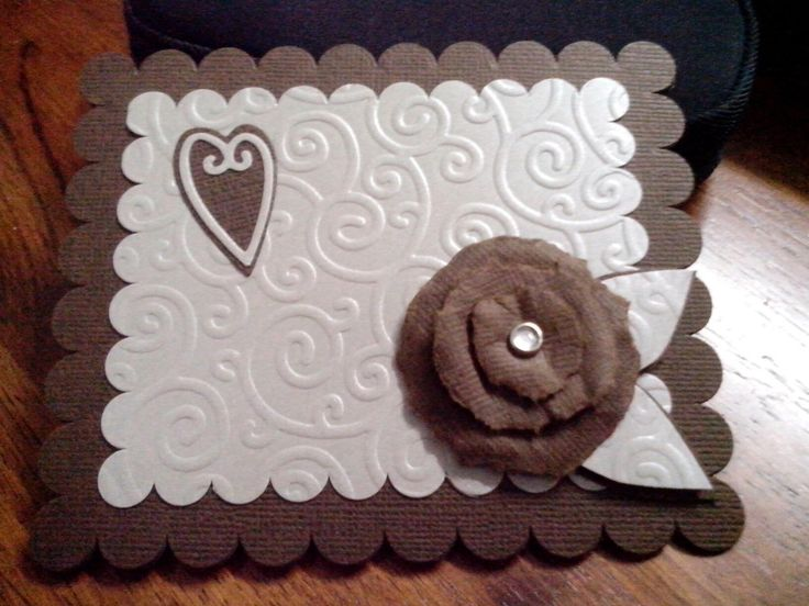 i love the torn rose and the combination of silver pearlised paper on chocolate