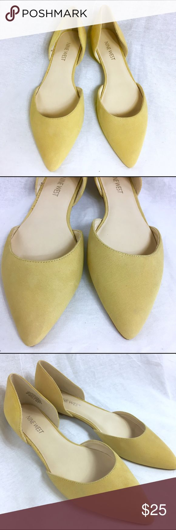 NINE WEST STARSHIP Yellow Leather Flats - Size 6M These yellow leather flats are in great condition.  They have been gently preloved.  They are a regular fit. Nine West Shoes Flats & Loafers