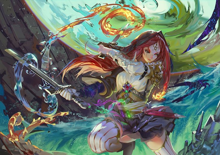 Anime warrior girl