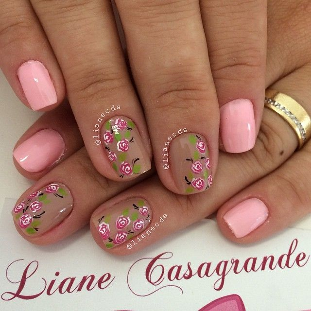 nude & pink floral  Instagram media by lianecds - Carine
