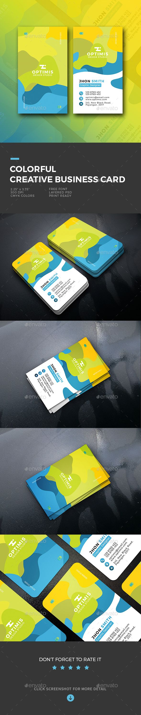 Colorful Creative #Business #Card - Creative Business Cards Download here: https://graphicriver.net/item/colorful-creative-business-card/20121184?ref=alena994
