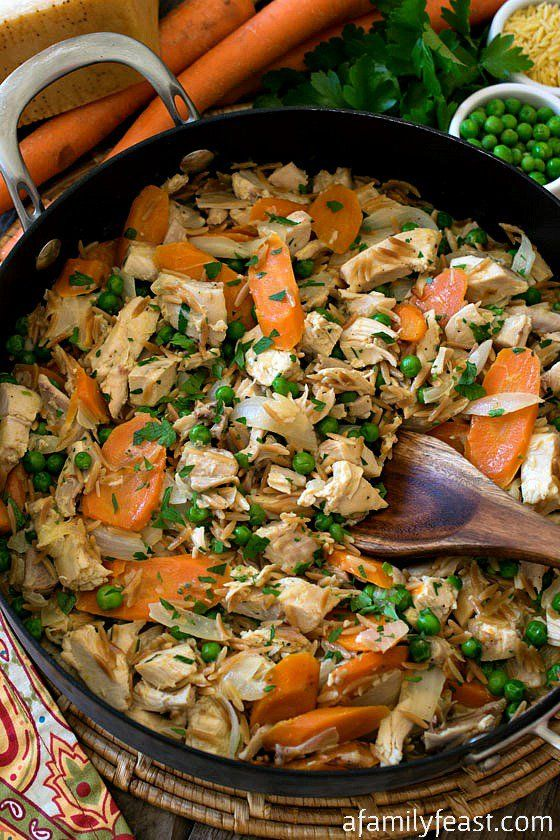Rotisserie Chicken Skillet - Dinner is served in about 30 minutes with this easy and flavorful recipe!