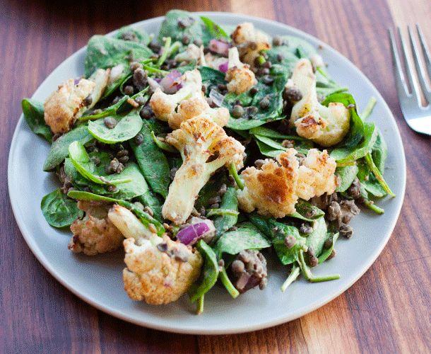 Roasted Cauliflower Salad from @eatingbirdfood