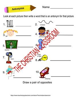 Number Names Worksheets list of opposites for preschoolers : 1000+ ideas about Opposite Words List on Pinterest | Opposite ...