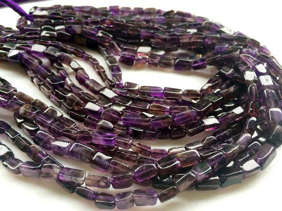 WHOLESALE 5 Strands Amethyst Beads Dark Purple by gemsforjewels