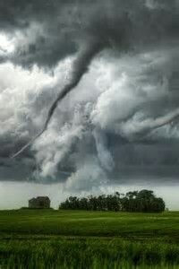 Tornado along HWY 34 in Aurora Nebraska