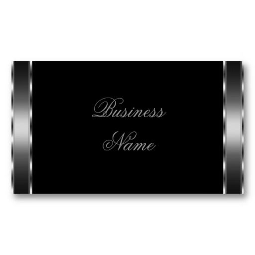 21 best black business cards with silver writing images on pinterest create your own elegant business card colourmoves