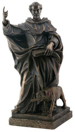 Saint Dominic Statue, Bronze Finish 8H - Next Delivery mid-April