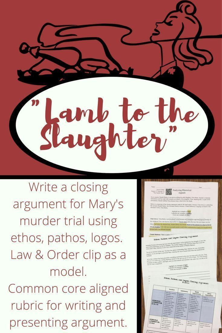 language use in lamb to the slaughter Lamb to the slaughter is a wound, holding story of mary maloney, who kills her   roald dahl effectively used long sentences to make a rundown of  the  descriptive language and the long sentence utilized as a part of the.
