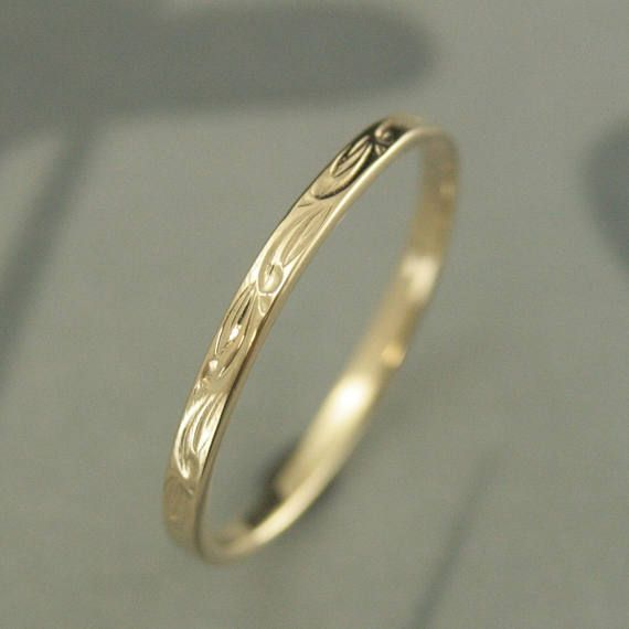 Rings For Women 10k Wedding Ring Sweet Pea Leaf Design Ring Patterned Band 10k Gold Ring Women S Wedding Ring Vintage Style Ring Women Wedding Rings Vintage Vintage Style Rings Wedding Rings