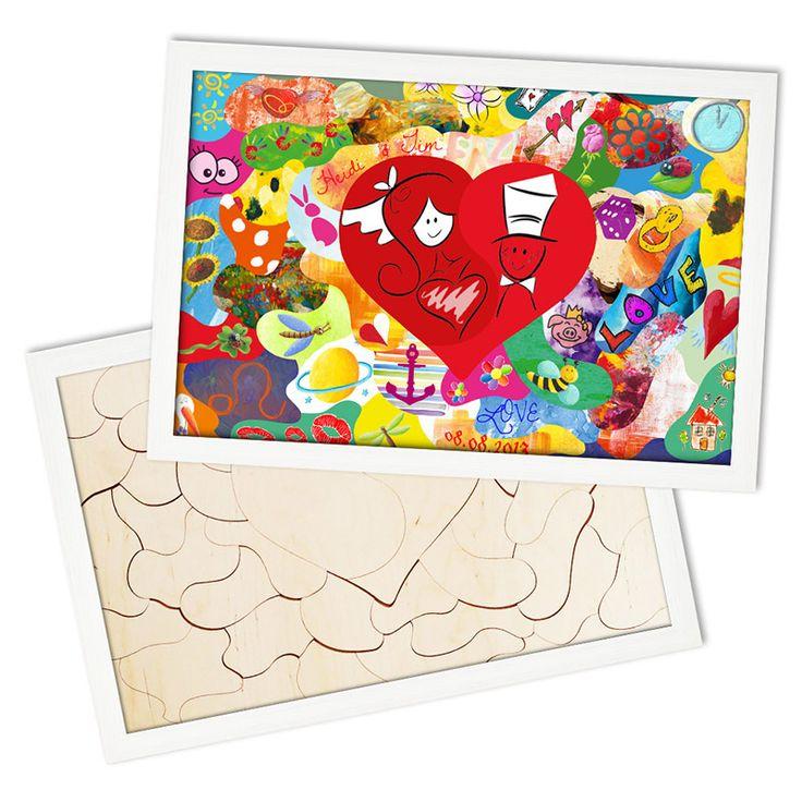 Das Holzmosaik zum bemalen. Alle Gäste bemalen die einzelnen Mosaikteile. Nach dem Zusammensetzen der Mosaikteile entsteht ein buntes Mosaik-Bild.