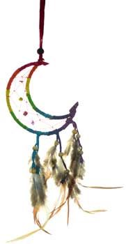 "3"" Crescent Moon dream catcher"