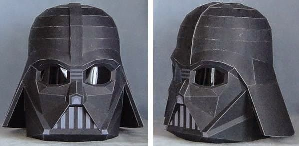 PAPERMAU: Star Wars - Darth Vader Wearable Helmet Paper Model In 1/1 Scale by Hyakunin