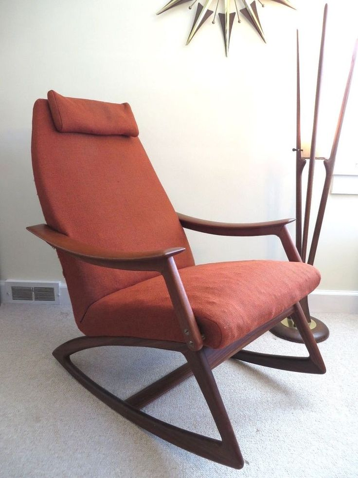 MID CENTURY DANISH MODERN DUX ROCKING CHAIR