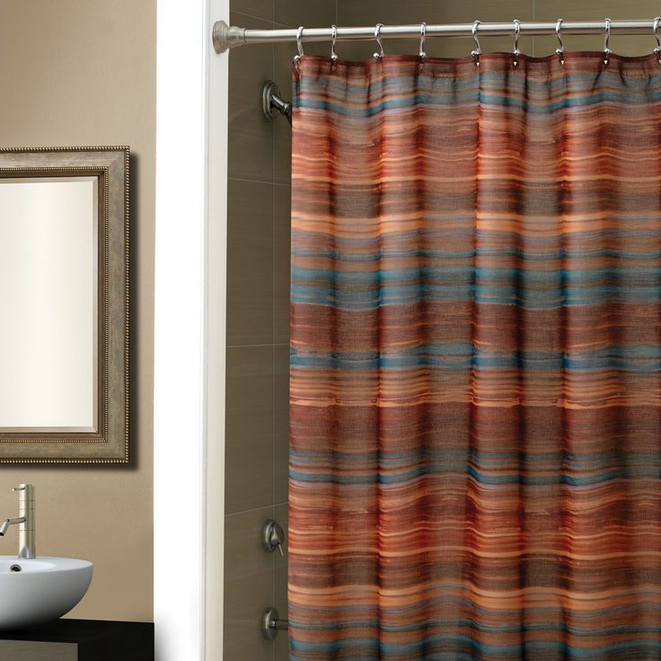 Ventura Shower Curtain by Croscill - I bought it for my Southwestern-themed bathroom because it is similar to a Navajo blanket.