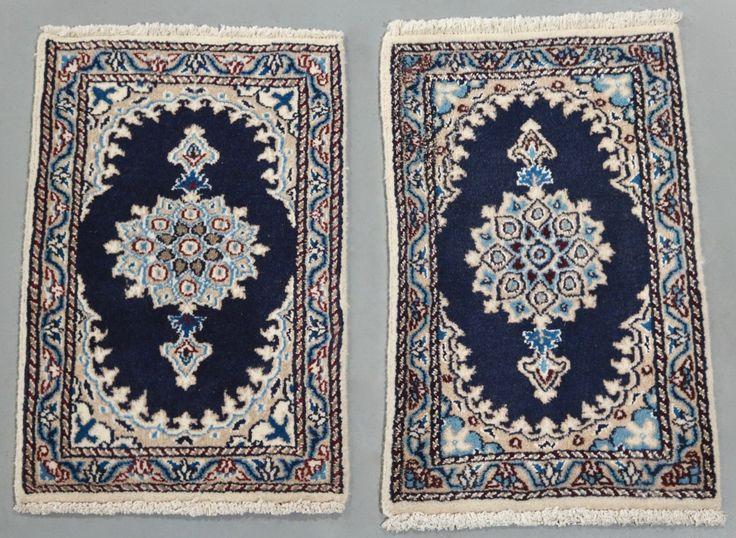 Pair of Nain Persian Rugs (Ref 6371) 60x40cm - PersianRugs.com.au