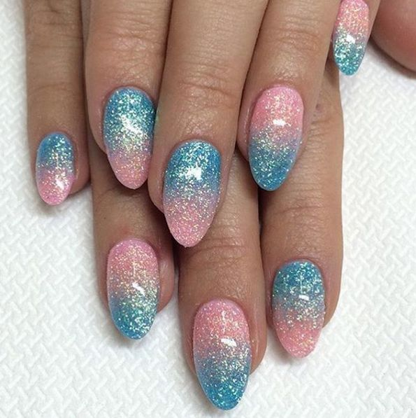Cotton Candy Glitter Nails: 17 Best Ideas About Cotton Candy Nails On Pinterest