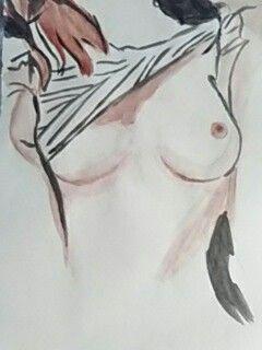 Dibujo mujer desnuda