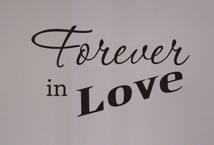Forever in Love wall decal