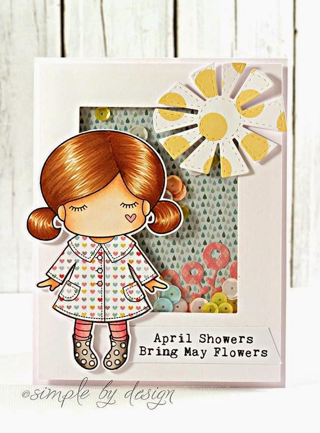 CHA 2015 New Release Showcase - Day 4! Card by Joy Taylor featuring Paper Doll Marci (Spring Showers) and these Dies - Stitched Sun and Cloud Set. Older Dies - Whimsical Flowers Bunch :-) Shop for our NEW products here - http://shop.lalalandcrafts.com/NEW_c16.htm More Design Team inspiration here - http://lalalandcrafts.blogspot.ie/2015/01/cha-2015-new-release-showcase-day-4.html