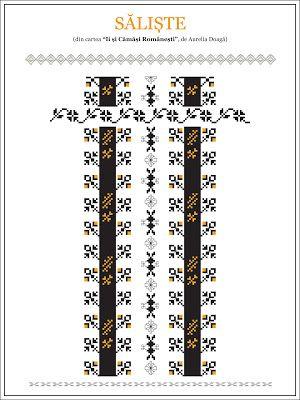 Semne Cusute: model de camasa din TRANSILANIA, Saliste