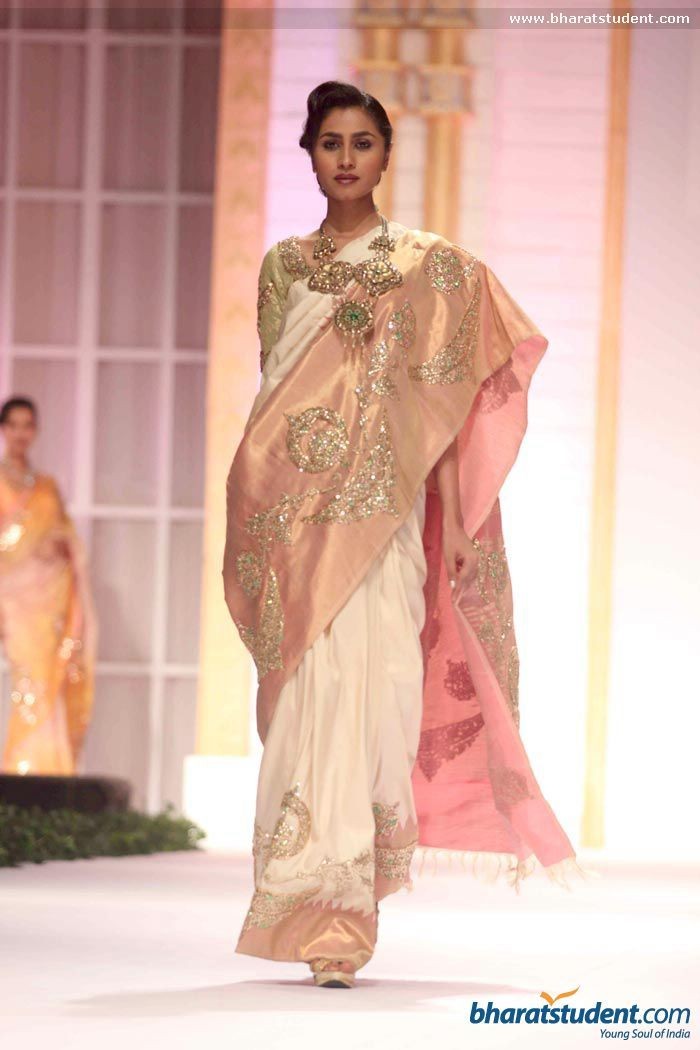 Sari by Pallavi Jaikishan at Aamby Valley City India Bridal Fashion Week 2013