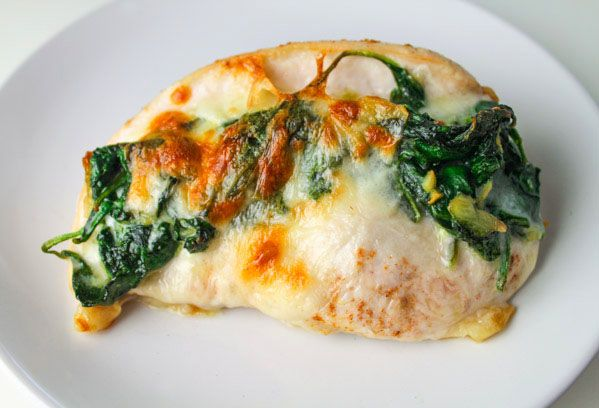 These Baked Spinach Provolone Chicken Breasts are Low Carb and so delicious. So simple to make, just butterfly the chicken breasts, add spinach, provolone..